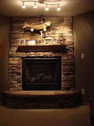 lower level gas fireplace