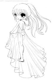 Chibi Coloring Pages Anime Girl Lu Great Page Ayushseminarmahainfo