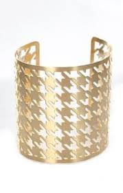 hip houndstooth cuff houndstooth women jewelry tables charm bracelets fashion accessories