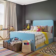 Teal Accessories Bedroom Dark Grey Bedroom With Bright Accessories Ideal Home