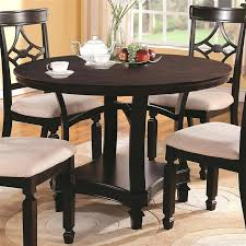 dining tables 36 round dining table set 5 piece in cappuccino finish by coaster wide