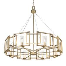 golden lighting chandelier. Golden Lighting Marco White Gold Eight-Light Chandelier With Clear Glass Shade 4606068-8WG_1 4606068-8WG_2 G
