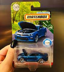 Matchbox Moving Parts Road Trip Chevy Camaro Definitely One Of The Better Ones Out Of The Series Although It Still Has That Plast Chevy Camaro Camaro Matchbox