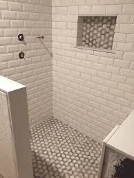 bathroom design ideas shower tile install white beveled subway tiles mir mosaic marbella beveled white subway