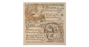 Vintage Walter Crane: Rooster & Pearl Wolf & Lamb Poster | Zazzle.com