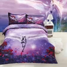 2017new luxury europe hd 3d horse print bedding sets designer 4pcs polyester cotton duvet cover queen
