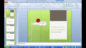How To Add Music To A Presentation In Powerpoint 2010 Youtube