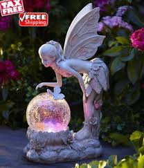 angel garden. image is loading solar-light-globe-fairy-statue-color-changing-angel- angel garden
