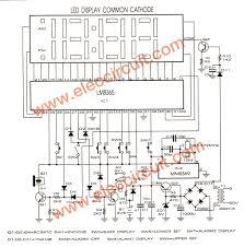 lm8365 digital clock circuit board eleccircuit com the schematic simple burglar alarm circuit diagram at Sample Schematic Diagram For Alarm
