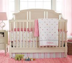 image of luxury girls crib bedding