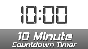 Timer 10min 10 Min Simple White Digital Clock Countdown Timer With Ending Bell