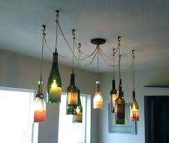 wine bottle chandelier how to make a image of lighting fixtures for pottery barn wine bottle chandelier