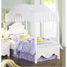 White Canopy Bed Twin