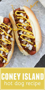people may disagree on what makes an authentic coney island hot dog but you will