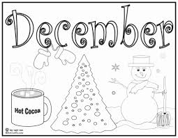 Fresh December Coloring Sheets Pages Coloringsuite Com Of Collection