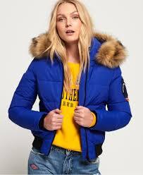 Superdry Uk Size Chart Women S Superdry Everest Ella Bomber Jacket Womens Jackets Coats
