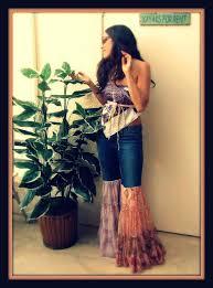 custom made to order love hippie vintage bell bottom bloomer denim jeans pants via