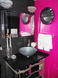 black and pink bathroom accessories. Spa-Inspired Oasis Black And Pink Bathroom Accessories N