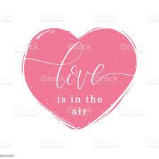 Love Is In The Air Handschriftlichen Satz In Herzform  Valentinstagschriftzug 8 Märzvektorillustration Stock Vektor Art und mehr  Bilder von Abzeichen - iStock