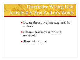 Descriptive Essay Words Used