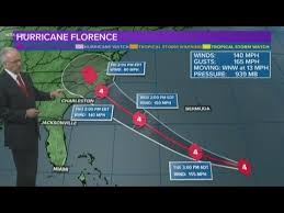 Hurricane Tracking Chart Florence Hurricane Florence Forecast Storms Winds Now At 140 Mph 9 10 2018