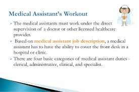 Clinical Assistant Jobs Medical Assistant Job Description