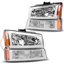 2006 Silverado Parking Light Bulb 03 06 Chevrolet Silverado Chrome Amber Headlights