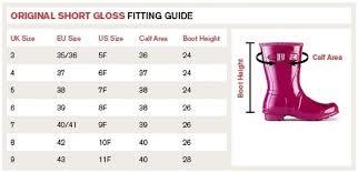 Hunter Shoe Size Chart Hunter Wellington Boots Size Chart Us Uk Euro Wellies