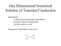 one dimensional numerical solution of transient conduction