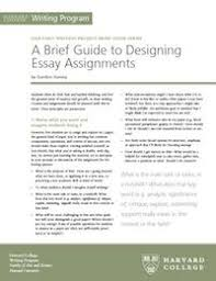 designing essay assignments harvard writing project brief guide to designing essay assignments