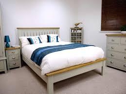 Oak Bedroom Grey Painted Oak Double Bed Oak City