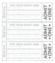 Admit One Ticket Template Free Best Ticket Stub Template Free Download Concert Goloveco