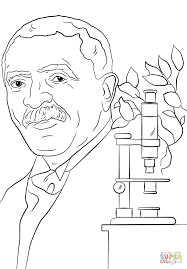 George Washington Carver Coloring Page Free Printable Coloring Pages