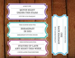 Make Voucher Printable Coupons Tickets Vouchers DIY Printable 2