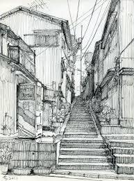 architecture sketches. architectural sketches u2013 back alley sketch by suzuken architecture 0