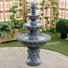 fireplace kenroy costa brava outdoor fountain masterkf597 lighted wall water fountains best garden lighted outdoor