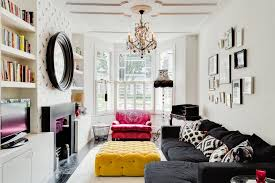 Living room victorian lounge decorating ideas Carpet London Pink And Black Design Living Room Victorian With Lounge Transitional Ottomans Footstools Colorful Chandelier Country Living Magazine London Pink And Black Design Living Room Victorian With Lounge