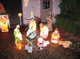 image of large outdoor nativity set 1