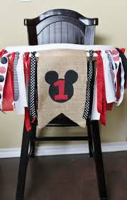 mickey mouse themed highchair idea for a 1st birthday see more mickey mouse birthday and party ideas at one stop party ideas com mickey