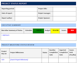 How Do I Find Templates In Word Project Status Report Template Word Template Free Download