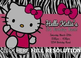 Hello Kitty Party Invitation 100 Hello Kitty Birthday Party Invitations Templates