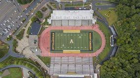 Aerial View Of Kidd Brewer Stadium On The Grounds Of