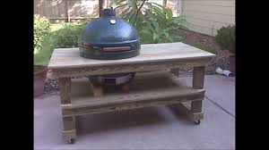 charming big green egg table plans pdf of for