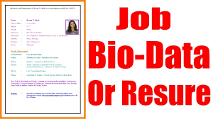 biodata and resume how to make a professional biodata or resume for job in hindi youtube