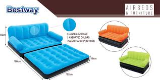 bestway inflatable multi max double air bed mattress couch sofa with ac pump