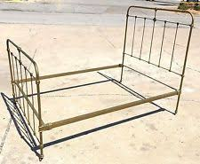 antique iron bed frames. Fine Antique Vintage CAST IRON Ornate Complete BED FRAME Tapered CONE Pin Side RAILS  Antique Inside Iron Bed Frames W