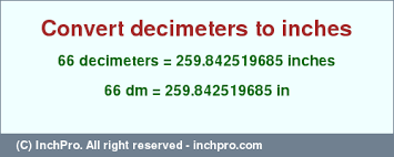 66 Dm In Inches Convert 66 Decimeters To Inches Inchpro Com
