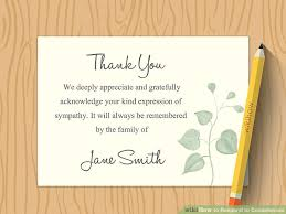 Thank You Note After Funeral To Coworkers Simple Ways To Respond To Condolences 8 Steps With Pictures
