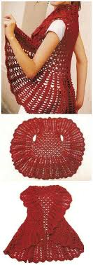 Crochet Circular Vest Pattern Free Delectable 48 Free Crochet Patterns For Circular Vest Jacket Knit And Crochet