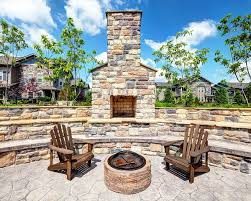 outdoor stone fireplace. Enjoy Your Patio Year Round With An Outdoor Stone Fireplace. Fireplace T